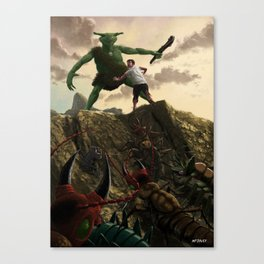 Pit of Giant Insect Monsters Canvas Print