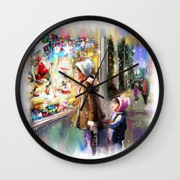 Christmas Greeting Card2 Wall Clock
