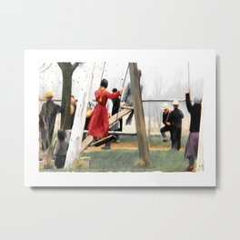 MORNING RECESS Metal Print