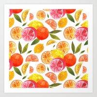 oana befort Art Prints featuring CITRUS by Oana Befort