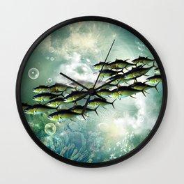 Fish shoal Wall Clock