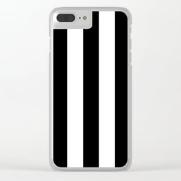 Black and white stripes Clear iPhone Case