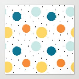 cute colorful pattern with grunge circle shapes Canvas Print