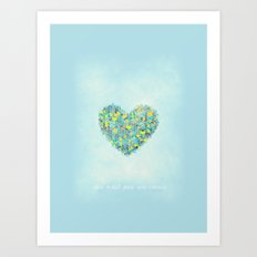 Ceci n'est pas un coeur Art Print