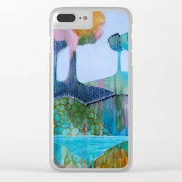 Day 13 In The Woods, Contemporary Abstract Landscape Clear iPhone Case