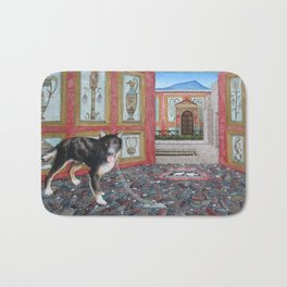 The Dog of Pompeii Bath Mat