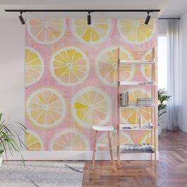 Orange Slices Pastel Fruit Wall Mural