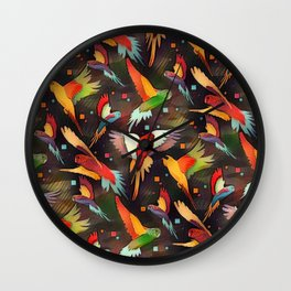 Fluttering Wings of Color Wall Clock