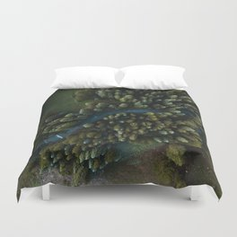 Arial View of River Duvet Cover