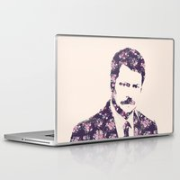swanson Laptop & iPad Skins featuring Ron Swanson by MisfitKismet Designs