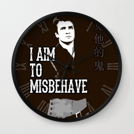 Aim to Misbehave Wall Clock