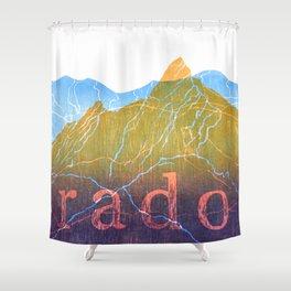 Colorado Mountain Ranges_Boulder Flat Irons + Continental Divide Shower Curtain