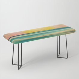 Ocean Sunset 1.0 Vintage Bench