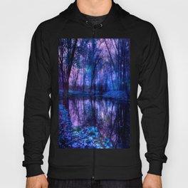 Enchanted Forest Lake Purple Blue Hoody