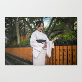 Saya in Kimono Canvas Print
