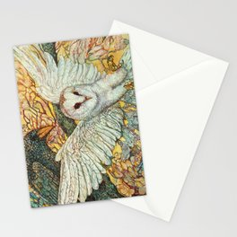 The Playground _ Raven, Owl, Chickadee Stationery Cards