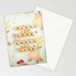 Play Love Laugh Live Stationery Cards