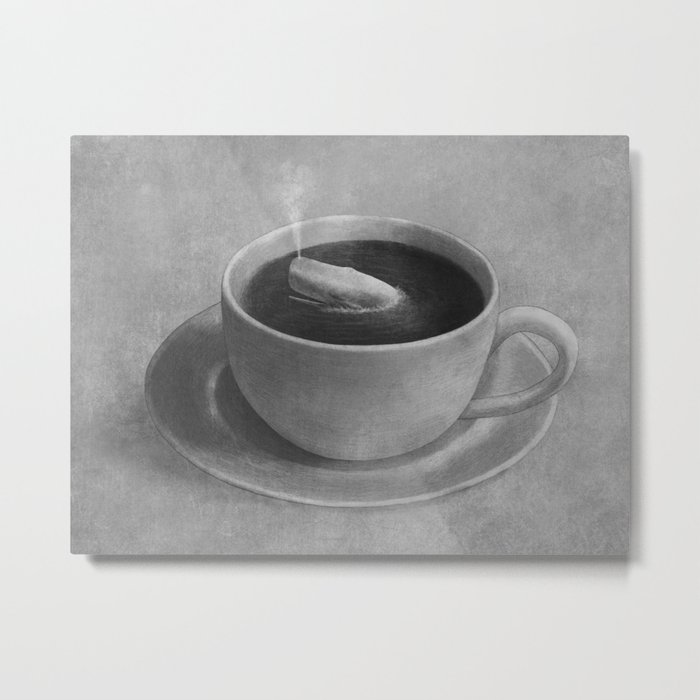 Whale in a tea cup  Metal Print