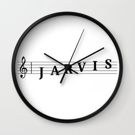 Name Jarvis Wall Clock