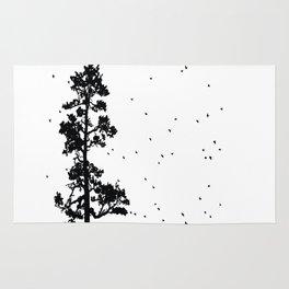Pine Tree Flock in Bend, Oregon by Seasons K Designs Rug