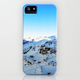 Shades of blue at the mountains iPhone Case