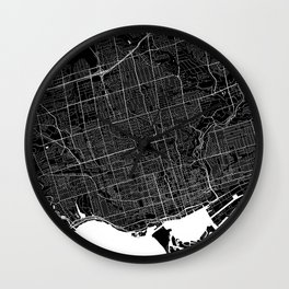 Toronto - Minimalist City Map Wall Clock