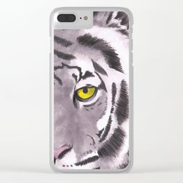 Tiger on a Gold Leash Clear iPhone Case