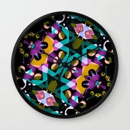 Digital Futuristic Geometric Pattern Wall Clock