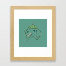 Pokemon: Bulbasaur! Framed Art Print