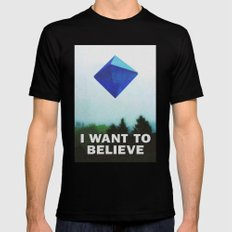 I WANT TO BELIEVE - 5TH ANGEL Mens Fitted Tee Black MEDIUM