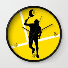 TENNIS Forehand Lines Wall Clock
