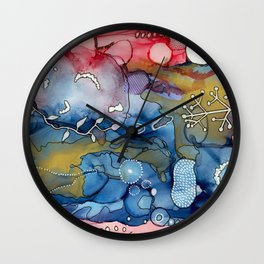Reef of Rose and Prussian Wall Clock