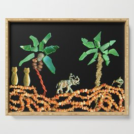 Safari Elephant Jewelry, Scanography Serving Tray