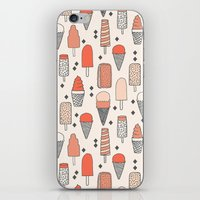 ice iPhone & iPod Skins featuring Ice Cream Season by Andrea Lauren Design
