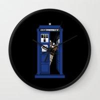 dalek Wall Clocks featuring Dr. Dalek by AWOwens