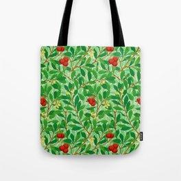 William Morris Lychee Tree Pattern, Light Jade Green Tote Bag