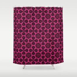 Pink Yarrow Floral Shower Curtain