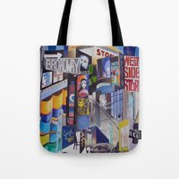 broadway Tote Bags featuring Broadway by gretchenweidner.com