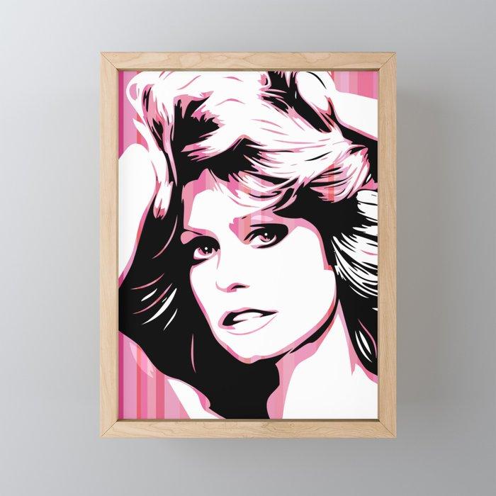 Farrah Fawcett   Pop Art Framed Mini Art Print
