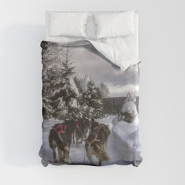 Running With the Dogs Duvet Cover