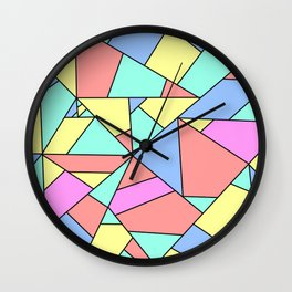 colorful mosaic - colorful patchwork Wall Clock