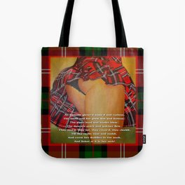The Dancers Quick and Quicker Flew Burns Supper Tote Bag