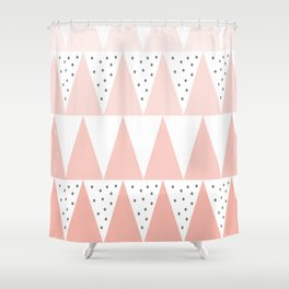 Spikes and Dots Shower Curtain