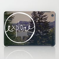 oregon iPad Cases featuring Explore Oregon by Leah Flores