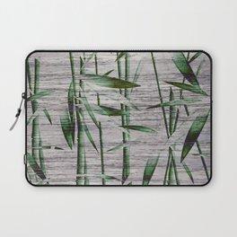 Winter Bamboo Leaves Laptop Sleeve