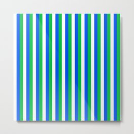 Team Colors 4... blue,green,white Metal Print