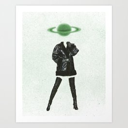 Space Boots Art Print
