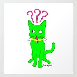 """""""Heckin Confused Derp Cat"""", by Brock Springstead Art Print"""