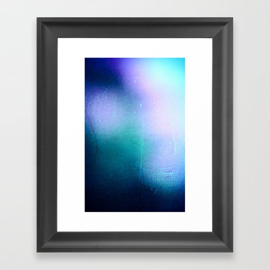 BLUE SPACE Framed Art Print