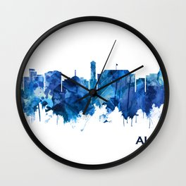 Aurora Colorado Skyline Blue Wall Clock
